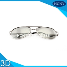 Cinema Metal Frame Passive 3D Glasses Washable Free Scratch Circular Polarized Lens