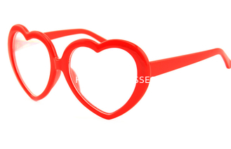 Heart Frame Clear Diffraction Glasses Red Heart Frame For Party Wedding Music Festival Use