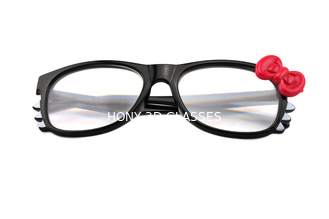Hello Kitty Frame Fireworks Glasses With 13500 Lines Diffraction Effect Black Frame