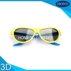 China Adult  Passive Cinema 3D Glasses Linear Polarized Lens With Blue / Yellow Color supplier