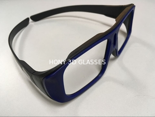 China Unfolded Big Frame Linear Polarized 3D Glasses 0.23mm Lens Custom Color supplier