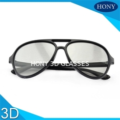 China Durable 3D  Passive Linear Polarized Glsses Matt Black Frame For Cinema supplier