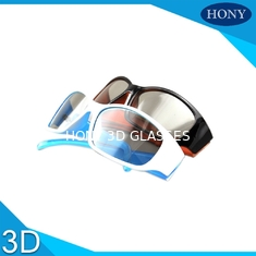 China Hard Coating Frame Linear Polarized 3D Glasses With Black / Orange Color supplier