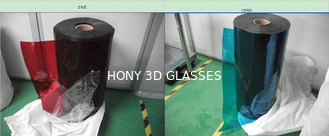 China High Efficiency Polarized Film Sheet Red Cyan Lens Make 3D Red Blue Glasses supplier
