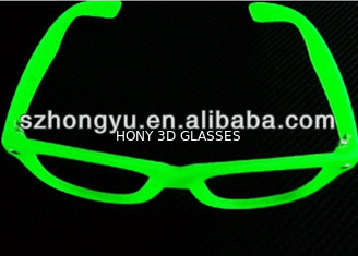 Fluorescence Glasses Glow In The Dark Noctilucence Glasses With PC Clear Diffraction Lens