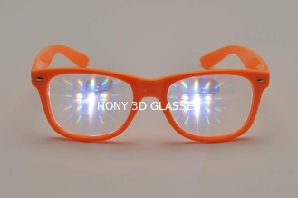 China 3D Fireworks Glasses , Promotion Orange Frame Eye Wear Glasses supplier