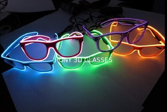 China Flash Lighting El Wire Glasses With Hand Or Sound Control Rohs CE supplier