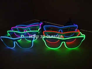 Flash Lighting El Wire Glasses With Hand Or Sound Control Rohs CE