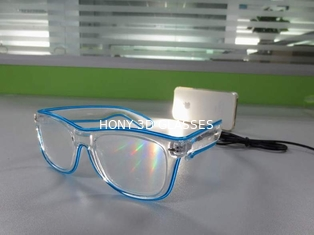 Shining Plastic El Wire Glasses Colorful Frames For Christmas Festival Party