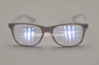 China Ultimate Plastic Diffraction Glasses,3D Prism Effect EDM Rainbow  Style Rave Eyewear Fireworks Glasses supplier