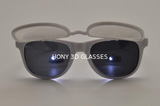 China Flip Up Plastic 3D Diffraction Glasses For Music Party / Dance Event supplier