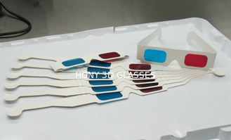 China Disposable 3D Anaglyph Glasses Chromadetph , Paper Polarized Glasses supplier