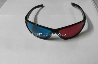 China Plastic Red Cyan 3D Glasses For Home Theater supplier