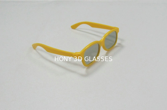 Kids Linear Polarized 3D Glasses In Plastic Frame For Cinema Party Games