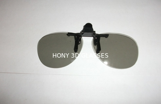 China Clip Linear Polarized 3D 4D 5D 6D Glasses For Museum With Metal Holder supplier
