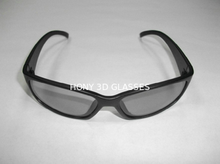 Black Linear Polarized 3D PC Glasses With Plastic Frame CE EN71 Rohs
