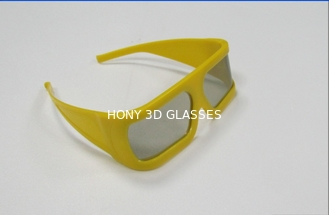 China Thicken Plastic Linear Polarized 3D Glasses For 3D TV , Anti Reflective supplier