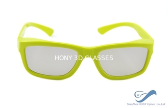 China Yellow Plastic Frame Circular Polarization Lenses Reald 3D Polarized Glasses supplier