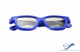 Blue Frame Reald 3D Polarized Glasses Circular For Kids And Adult