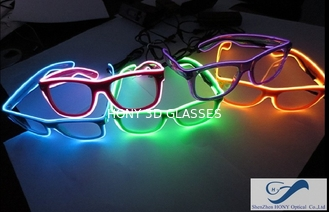 China Popular El Wire Glasses Diffraction Effect Lens For Watching Fireworks supplier