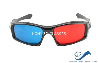 China Plastic Frame Red Cyan Anaglyph 3D Glasses For Normal TV 3D Movies supplier