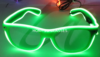 Party Show Flash Light Glasses 0.75mm Lens With PC Plastic Frame