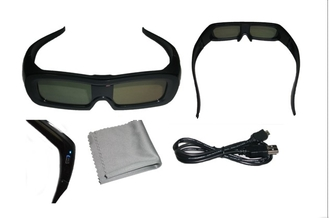 China IR Active Shutter 3D Glasses Rechargeable Universal 120Hz 86kPa - 106kPa supplier