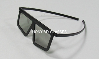 China ABS Plastic Frame Linear Polarized 3D Glasses / Movie Eyewear supplier