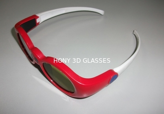 China Anaglyph 3d Active Shutter Glasses For Projector , Lightweight 3d Stereo Glasses supplier