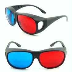 China 0.72mm TAC Lens Linear Polarized 3d Glasses Red Blue For Computer Games supplier