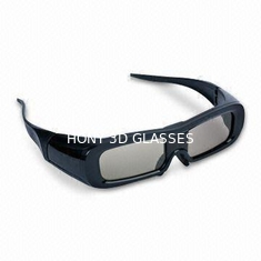 China Super Light Universal Active Shutter 3D Glasses With Black Plastic Frame supplier