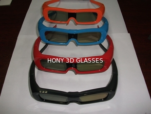 China Colorful Universal Active Shutter 3D Glasses For TV Water Proof supplier