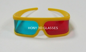 China Plastic Anaglyph 3D Glasses Red And Cyan Anti Scratch For Computer Game supplier