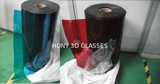 Red Blue 3D Glasses LCD Screen Polarizer Film 0.09mm Thickness