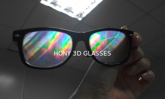 China Popular diffraction 3d fireworks glasses to view reald movie system supplier