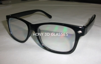 China Black Frame Diffraction 3D Glasses For Fireworks , Rainbow Viewing Glasses supplier