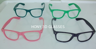 China Red and blue plastic frame 3d fireworks glasses to show sponsor giveaway supplier