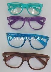 China Stylish Advertising 3D Plastic Fireworks Glasses 0.06mm PVC Laser Lenses supplier