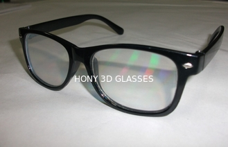 China Custom diffraction 3d fireworks glasses with 0.06mm PVC laser lenses supplier