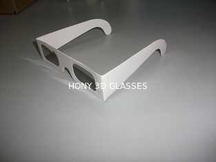 White Cardboard Chromadepth 3D Glasses For Adult / Kids , 0.06mm Lens Thickness