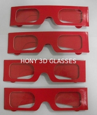 China Paper Stereoscopic 3d Glasses For Watch 3D Games , 405x38mm Size supplier
