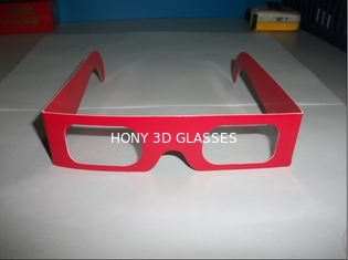 Anaglyphic Paper 3D Glasses , Disposable Red 3d Monitor Glasses 400*37mm Size