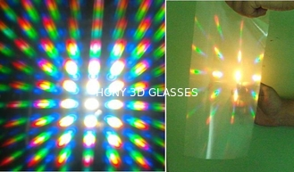 Strong Diffraction Effect Clear Fireworks Flip UP Rainbow Glasses