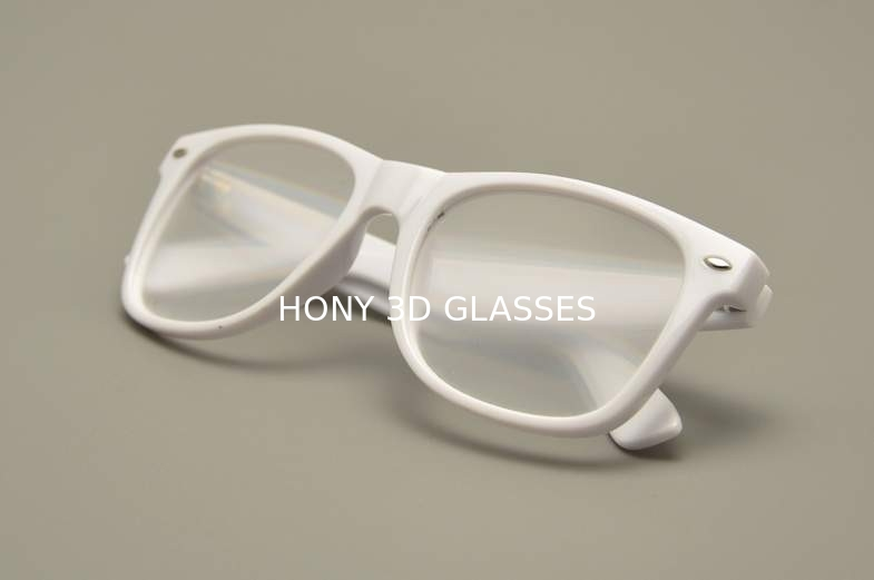 white pc plastic frame 3d fireworks glasses with 2 sets of lense