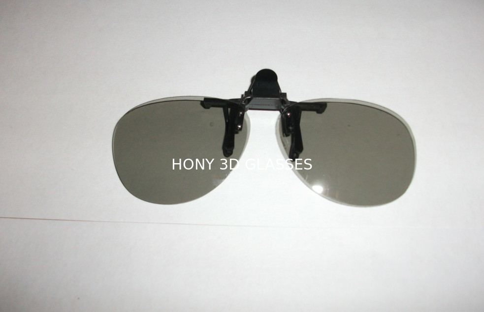 Clip Linear Polarized 3D 4D 5D 6D Glasses For Museum With Metal Holder