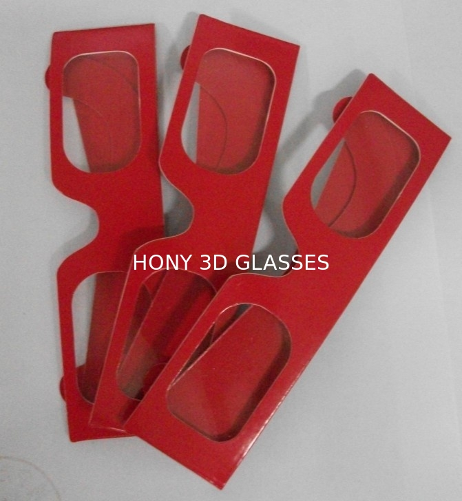 Red Colorcode Paper 3D Glasses For 3D Drawing Picture , Cardboard Frame