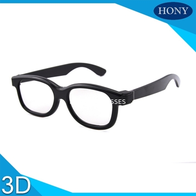 China Passive 3D Circular Polarized Glasses For Movies With ABS Materilas distributor