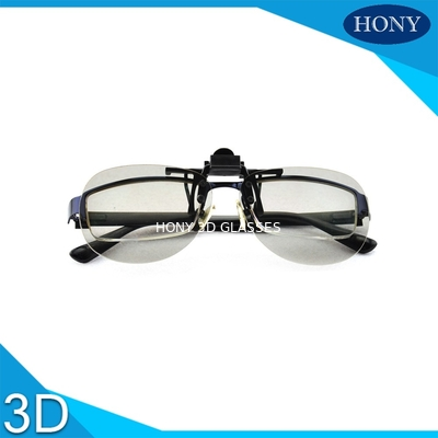 China Clip Type Plastic Circular Polarized 3d Glasses For Tvs , Anti Glare factory