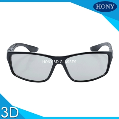 China Stylish Passive Plastic Circular Polarized 3D Glasses For LG TV Flicker Free factory