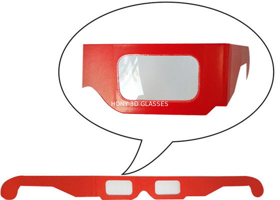 China Anaglyphic Paper 3D Glasses , Disposable Red 3d Monitor Glasses 400*37mm Size distributor